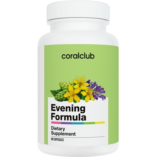Evening Formula, Heart, blood vessels, antistress, phytonutrients, from stress, for sound sleep, for sleep, theanine, hops, m